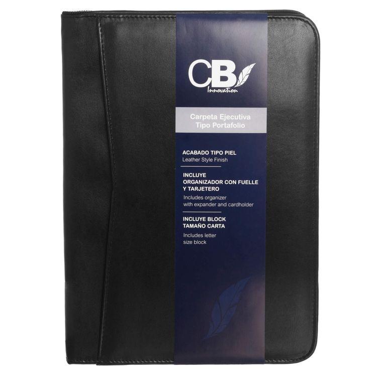 685d3421a30b Carpeta ejecutiva tipo portafolio piel con cierre CB.
