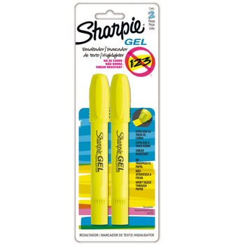 Marcatextos-Sharpie-en-Gel-Color-Amarillo-Punta-Cincel-2Pzas
