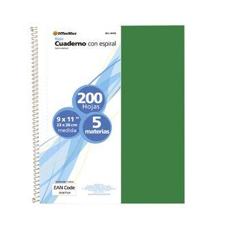 Cuaderno-Profesional-Rayado-5-Materias-Officemax-200-Hojas