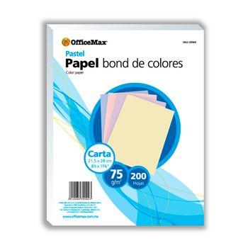 Papel-Officemax-Colores-Pastel-Carta-200-Hojas-75-Gr