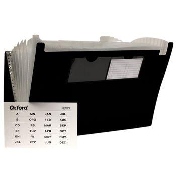 Archivo-Expandible-Oficio-13-Divisiones-Negro-Oxford-Pieza