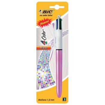 Boligrafo-Bic-mediano-4-colores-en-1-barril-metalico