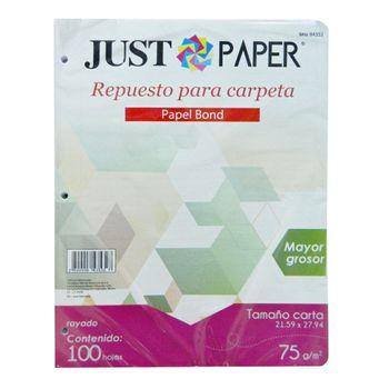 Hojas-Para-Carpeta-Just-Paper-Raya-75G
