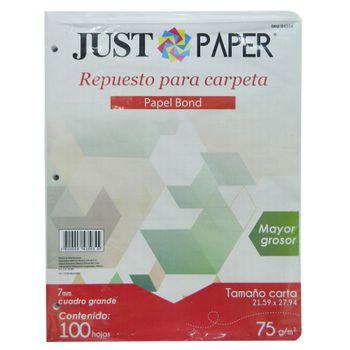 HOJAS-PARA-CARPETA-75-G-CUADRO-GRANDE-C7-JUST-PAPER