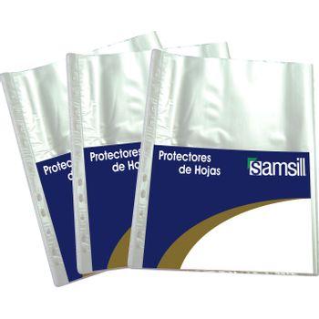 Protector-De-Hojas-Transparente-Uso-Rudo-Carta-100-Pz-Samsil