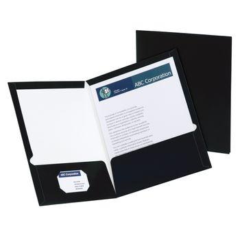 Folder-Showfolio-Carta-Negro-Paquete-Con-5piezas-Oxford