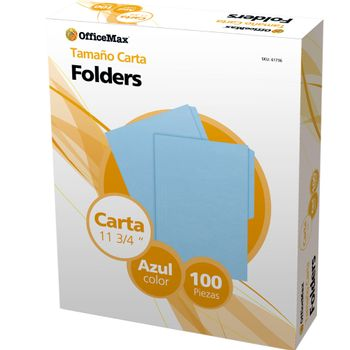 Folder-Officemax-Carta-Azul-100pz