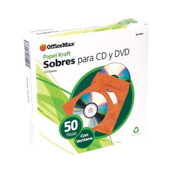 Sobre-Para-CD-Officemax-Kraft-Caja-50-Piezas