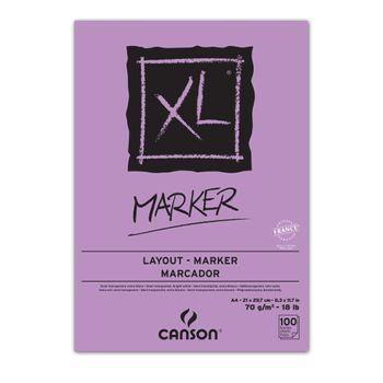 Block-de-dibujo-para-marcadores-blanco-100H-A4-XL-MARKER