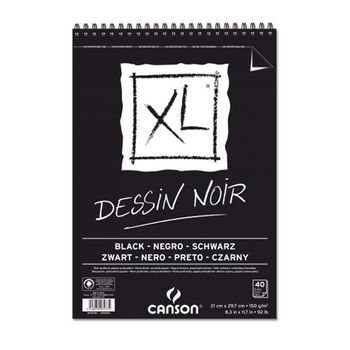 Block-de-dibujo-Negro-40H-A4-XL-DESSIN-NOIR