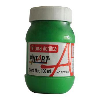 PINTURA-ACRILICA-VERDE-CLARO-500-100ML-PINTART