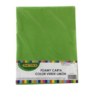 FOAMI-CARTA-VERDE-LIMON-4-PZ