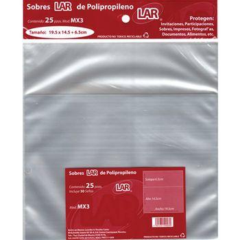SOBRE-TRANSPARENTE-CELOFAN-195X15-5-PQTE-25PZ-LAR