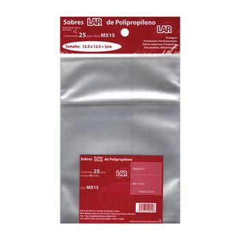 SOBRE-TRANSPARENTE-CELOFAN-15-12.5X12.5-PQTE-25PZ-LAR