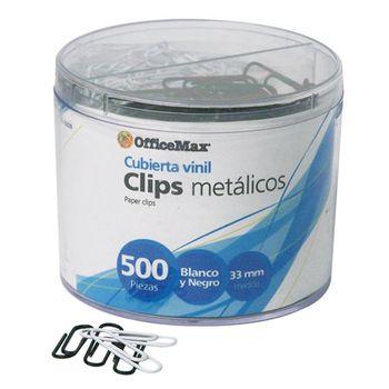 CLIPS-BLANCO-Y-NEGRO-DE-33MM-CON-500-PIEZAS