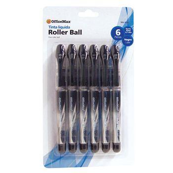 ROLLER-BALL-PUNTO-FINO-0.7MM-TINTA-NEGRA-CON-6piezas-OMX