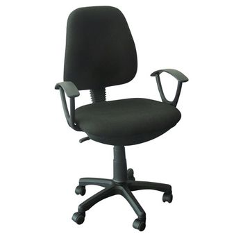 Silla-Secretarial-Michigan-Tela-Negro