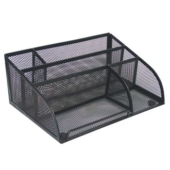 Organizador-Multiseccion-d-Escrit-Negro-Malla-25.5x18x10-.5cm