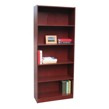 Librero-5-Repisas-Ajustables-Caoba
