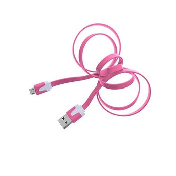 Cable-Micro-USB-3.2Ft-Flat-Rosa