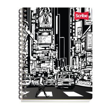 Cuaderno-Profesional-Rayado-Espiral-Doble-O-Black-10-0-Hojas